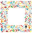 frame arrows vector image