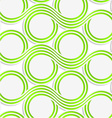 White colored paper green spools vector image vector image