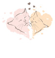 Valentine card - love cats vector image vector image