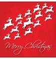 Card merry christmas vector image