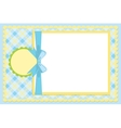 Template for babys photo album vector image vector image