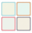 Cute Retro Framed Icon Set vector image