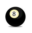Ball eight vector image