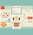 beer and fast food placemat vector image