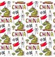 China flag karate master and dragon chinese vector image
