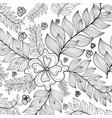 hand drawn sunflowers ornament foranti stress vector image