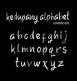 Kedupany alphabet typography vector image