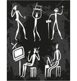 Man Human Evolution Technology vector image