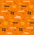 orange halloween seamless pattern vector image