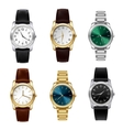 Realistic watches set vector image
