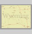 Wyoming state map with community assistance and vector image