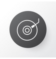 dj disc icon symbol premium quality isolated vector image