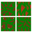 assembly of patterns in bright style vector image vector image
