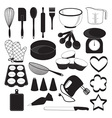 Baking Tool Icons Set vector image