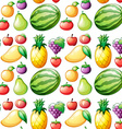 Seamless fruit vector image vector image