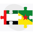 United Arab Emirates and French Guiana Flags vector image