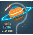 Saturn Flat Design Concept vector image