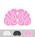 Brain Flat brain icon Human brain Main organ of vector image