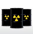 Black Barrel With Yellow Radioactive Symbol vector image