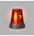Flasher police siren red color realistic vector image