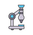 laboratory microscope linear icon vector image