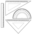 Protractor Ruler set vector image