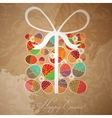 Easter card template - gift box from eggs vector image vector image