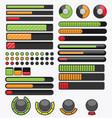 Cartoon progress bar pack 1 vector image