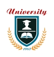 University badge or emblem vector image vector image