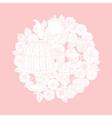 Pastel Floral tea time vector image