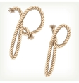 Rope alphabet Letter P vector image vector image