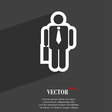 businessman icon symbol Flat modern web design vector image