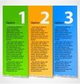 Colorful torn paper progress option label vector image