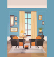 cozy living room interior design with modern vector image
