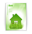 flyer with eco house vector image