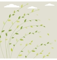Fresh spring background with tree branches and vector image