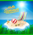 hello summer background beach island background vector image