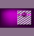 purple new year background with gift vector image