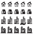 Real Estate Building and House Symbol vector image