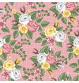 Retro flower seamless pattern roses vector image