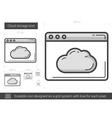 Cloud storage line icon vector image