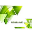 Green glossy tech triangles background vector image vector image