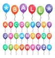balloon alphabet letters vector image
