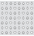 Casino pattern grey vector image