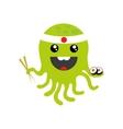 flat icon on white background octopus sushi vector image