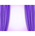 Violet theater curtains vector image