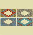 Bright ethnic horizontal frame set vector image