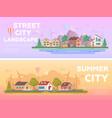 city landscape - set of modern flat vector image