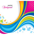 colorful rainbow background vector image