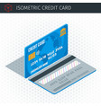 Isometric credit card vector image